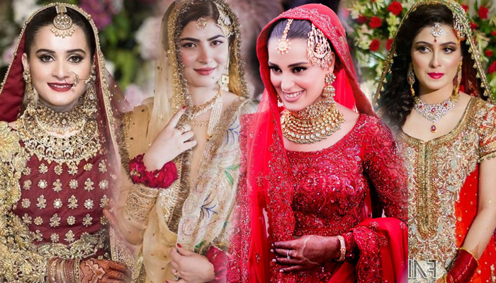 کونسی اداکارہ اپنی شادی پر کیسی لگ رہی تھی؟