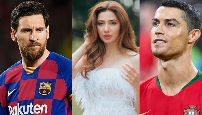 ماہرہ خان کا پسندیدہ فٹبالر میسی یا رونالڈو؟