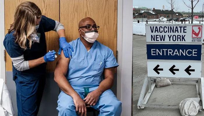 نیو یارک: ہیلتھ ورکرز کی ویکسینیشن کا ہدف پورا ہونے کا امکان کم