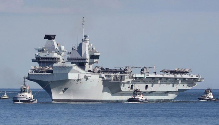 چین نے برطانوی بحری بیڑے کو خبردار کردیا