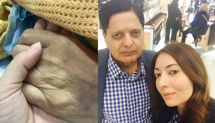 والد کی وفات کے بعد شرمیلا فاروقی کا جذباتی ٹوئٹ