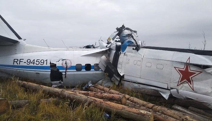 روس: مسافر طیارہ گرنے سے 16 افراد ہلاک