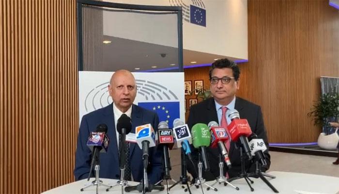 گورنر پنجاب کا یورپین پارلیمنٹ کا دورہ، ارکان کو افغان صورتحال اور پاکستانی اقدامات سے آگاہ کیا