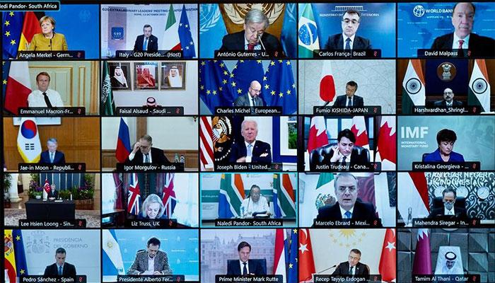 جی 20 ممالک کا ورچوئل اجلاس، صدر بائیڈن کا افغان صورتحال پر تبادلہ خیال