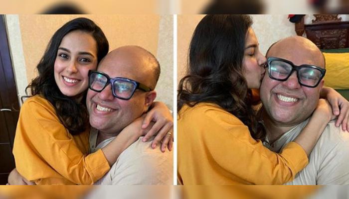 اقراء عزیز کی بیٹے اور میک اپ آرٹسٹ وقار حسین کے ہمراہ نئی تصویریں