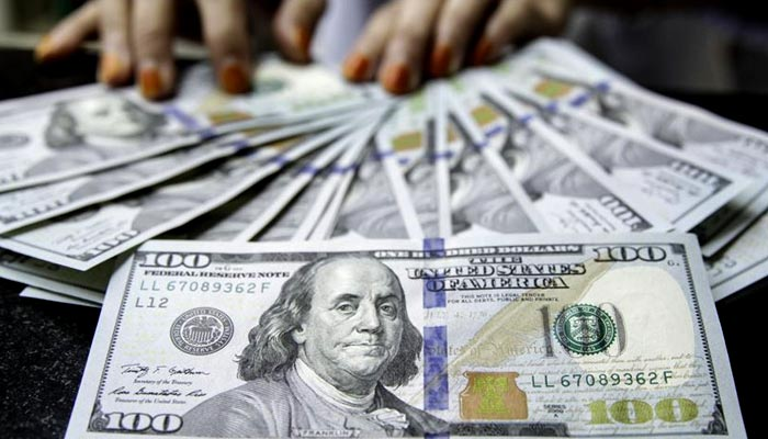 The dollar rose 7 paise on the interbank market