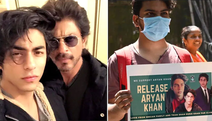 Aryan Khan's fans also came to the field for his release